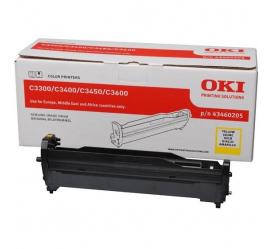 OKI C3300/C3400/C3450/C3600 AMARILLO TAMBOR DE IMAGEN ORIGINAL (43460205)