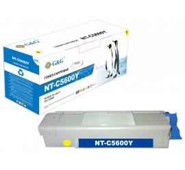 G&G OKI C5600/C5700 AMARILLO CARTUCHO DE TONER COMPATIBLE (43381905)