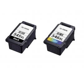 PACK CANON PG545XL/CL546XL CMYK CARTUCHOS DE TINTA COMPATIBLES (8286B001) Y (8288B001)