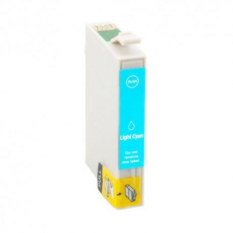 EPSON T0805 CYAN LIGHT CARTUCHO DE TINTA COMPATIBLE (C13T08054010)