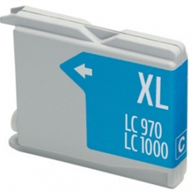 BROTHER LC1000XL/LC970XL CYAN CARTUCHO DE TINTA COMPATIBLE