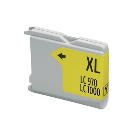 BROTHER LC1000XL/LC970XL AMARILLO CARTUCHO DE TINTA COMPATIBLE