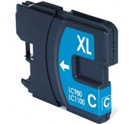 BROTHER LC980XL/LC1100XL CYAN CARTUCHO DE TINTA COMPATIBLE