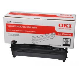 OKI C3300/C3400/C3450/C3600 NEGRO TAMBOR DE IMAGEN ORIGINAL (43460208)