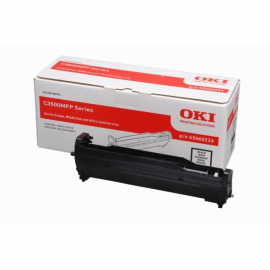 OKI C3520/C3530/MC350/MC360 NEGRO TAMBOR DE IMAGEN ORIGINAL (43460224)