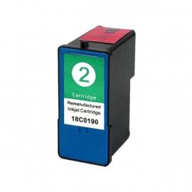 LEXMARK 2 TRICOLOR CARTUCHO DE TINTA COMPATIBLE (18C0190)