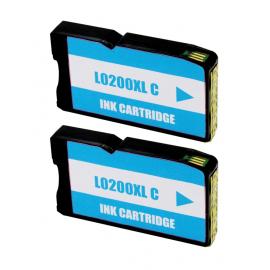 LEXMARK 200XL CYAN CARTUCHO DE TINTA COMPATIBLE (14L0198) (PACK 2 UNIDADES)
