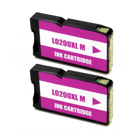 LEXMARK 200XL MAGENTA CARTUCHO DE TINTA COMPATIBLE (14L0199) (PACK 2 UNIDADES)
