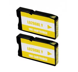 LEXMARK 200XL AMARILLO CARTUCHO DE TINTA COMPATIBLE (14L0200) (PACK 2 UNIDADES)