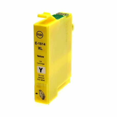 EPSON T1814/T1804 (18XL) AMARILLO CARTUCHO DE TINTA COMPATIBLE (C13T18144010)