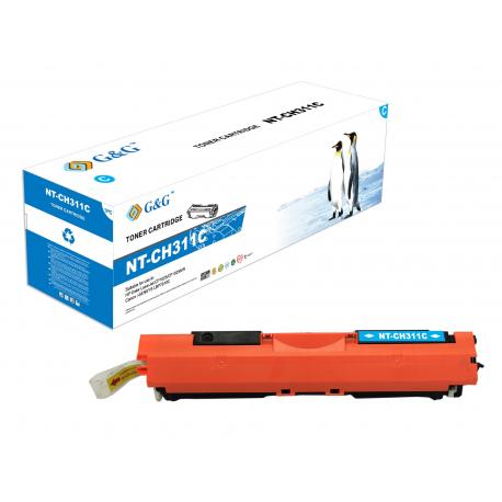 G&G HP CE311A CYAN CARTUCHO DE TONER COMPATIBLE Nº126A