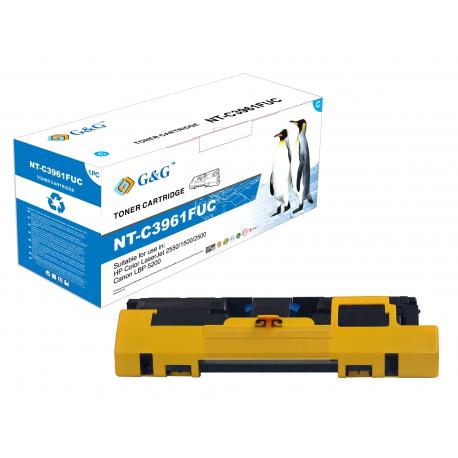 G&G HP Q3961A/C9701A CYAN CARTUCHO DE TONER COMPATIBLE Nº122A