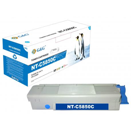 G&G OKI C5850/C5950/MC560 CYAN CARTUCHO DE TONER COMPATIBLE 43865723