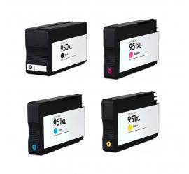PACK X 4 HP 950XL/951XL CMYK CARTUCHOS DE TINTA COMPATIBLES