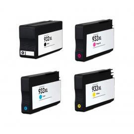 PACK X 4 HP 932XL/933XL CMYK CARTUCHOS DE TINTA COMPATIBLE (CN053AE), (CN054AE), (CN055AE) Y (CN056AE)