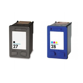 PACK HP 27/28 NEGRO Y TRICOLOR CARTUCHOS DE TINTA COMPATIBLES (C8727AE) Y (C8728AE)