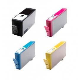 PACK 4 HP 364XL CMYK CARTUCHOS DE TINTA COMPATIBLES (CN684EE), (CB323EE), (CB324EE) Y (CB325EE)