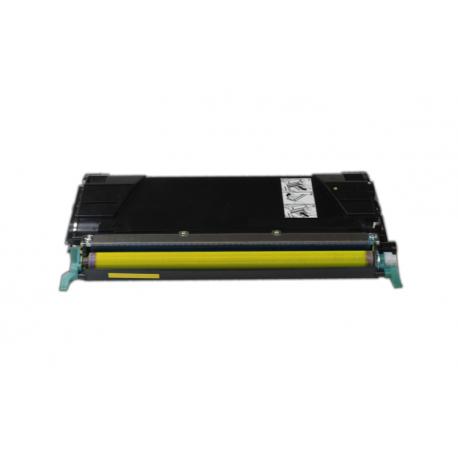 LEXMARK C734/C736/X738 AMARILLO CARTUCHO DE TONER COMPATIBLE (C734A1YG)