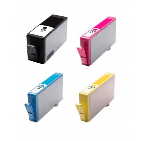 PACK HP 920XL CMYK CARTUCHOS DE TINTA COMPATIBLES (CD975AE), (CD972AE), (CD973AE), (CD974AE)