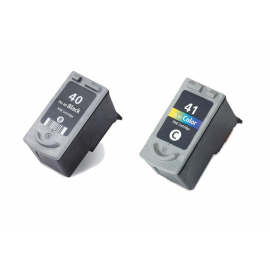 PACK CANON PG40/PG50-CL41/CL51 NEGRO Y TRICOLOR CARTUCHOS DE TINTA COMPATIBLES
