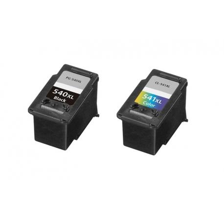 PACK CANON PG540XL/CL541XL CMYK CARTUCHOS DE TINTA COMPATIBLES (5222B005) Y (5226B005)