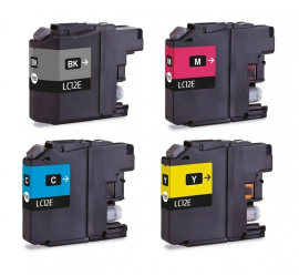 PACK 4 BROTHER LC12E CMYK CARTUCHOS DE TINTA COMPATIBLES