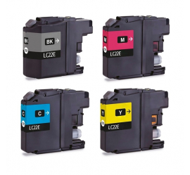 PACK 4 BROTHER LC22E CMYK CARTUCHOS DE TINTA COMPATIBLES