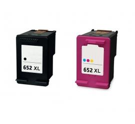 PACK HP 652XL NEGRO Y TRICOLOR CARTUCHO DE TINTA COMPATIBLE (F6V25AE) Y (F6V24AE)