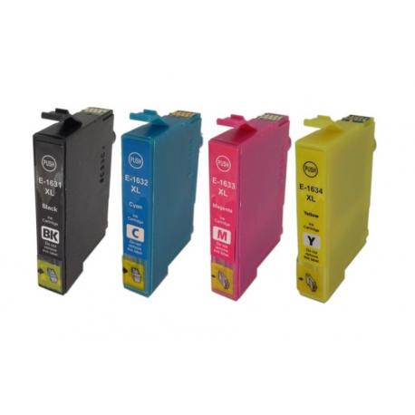 PACK EPSON T1631/T1621/T1632/T1622/T1633/T1623/T1634/T1624 (16XL) CARTUCHOS DE TINTA COMPATIBLES
