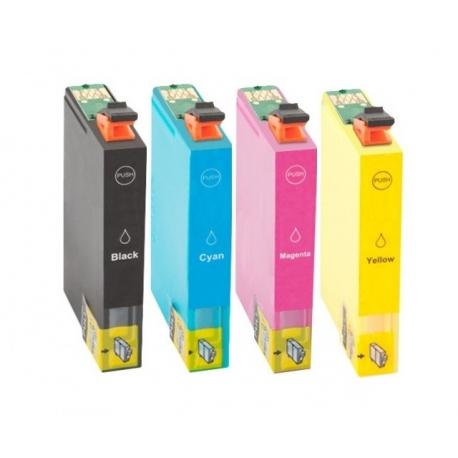 PACK EPSON T1281/T1282/T1283/T1284 CARTUCHOS DE TINTA COMPATIBLES