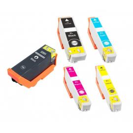 PACK EPSON T3351/T3361/T3362/T3363/T3364 (33XL) CARTUCHOS DE TINTA COMPATIBLES