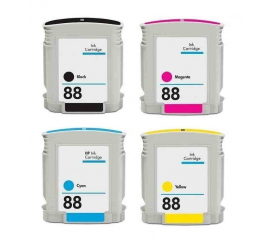 PACK HP 88XL CMYK CARTUCHOS DE TINTA COMPATIBLES
