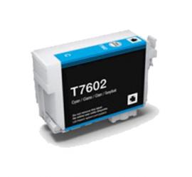 EPSON T7602 CYAN CARTUCHO DE TINTA PIGMENTADA COMPATIBLE (C13T76024010)