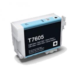 EPSON T7605 CYAN LIGHT CARTUCHO DE TINTA PIGMENTADA COMPATIBLE (C13T76054010)