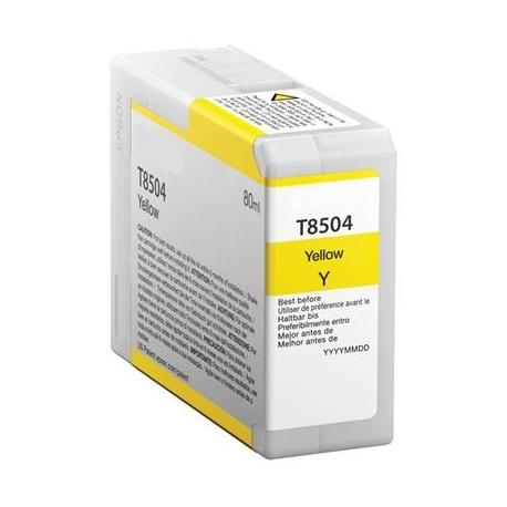 EPSON T8504 AMARILLO CARTUCHO DE TINTA PIGMENTADA COMPATIBLE (C13T850400)