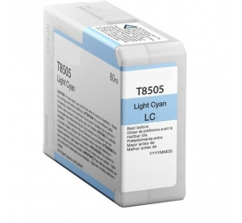 EPSON T8505 CYAN LIGHT CARTUCHO DE TINTA PIGMENTADA COMPATIBLE (C13T850500)