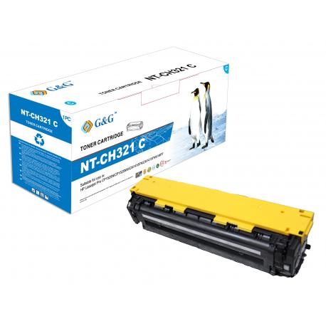 G&G HP CE321A CYAN CARTUCHO DE TONER COMPATIBLE Nº128A