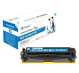 G&G HP CC531A CYAN CARTUCHO DE TONER COMPATIBLE Nº304A