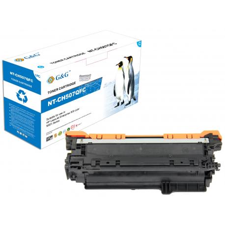 G&G HP CE401A CYAN CARTUCHO DE TONER COMPATIBLE Nº507A