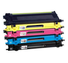 PACK 4 BROTHER TN130/TN135 CMYK CARTUCHOS DE TONER COMPATIBLES