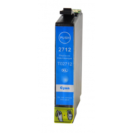 EPSON T2712/T2702 (27XL) CYAN CARTUCHO DE TINTA COMPATIBLE (C13T27124010)