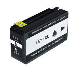 HP 711XL V5 NEGRO CARTUCHO DE TINTA PIGMENTADA COMPATIBLE (CZ133A) (CHIP ACTUALIZADO)