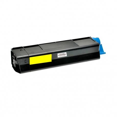 OKI C5100/C5200/C5400/C5250/C5450/C3100/C3200 AMARILLO CARTUCHO DE TONER COMPATIBLE