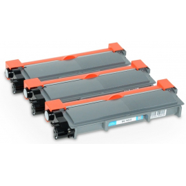 PACK X 3 BROTHER TN2310/TN2320 NEGRO CARTUCHO DE TONER COMPATIBLE