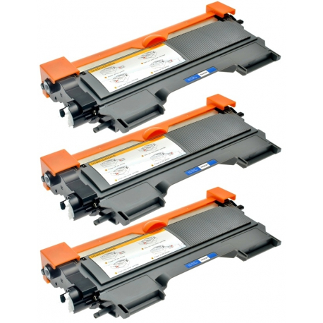 PACK X 3 BROTHER TN2220/TN2210/TN2010/TN450 NEGRO CARTUCHO DE TONER COMPATIBLE