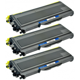 PACK X 3 BROTHER TN2120/TN2110/TN360 NEGRO CARTUCHO DE TONER COMPATIBLE