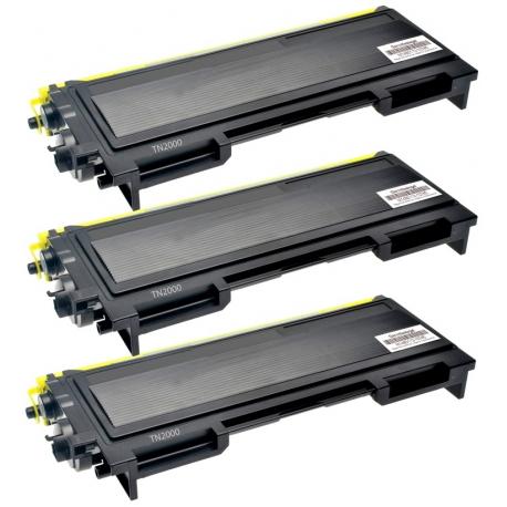 PACK X 3 BROTHER TN2000/TN2005/TN350 NEGRO CARTUCHO DE TONER COMPATIBLE