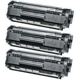 PACK X 3 CANON FX10/FX9/703 NEGRO CARTUCHO DE TONER COMPATIBLE