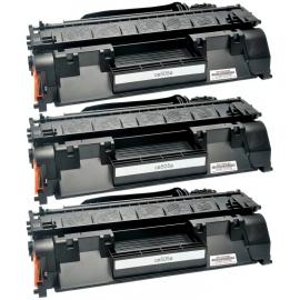PACK X 3 HP CE505A NEGRO CARTUCHO DE TONER COMPATIBLE Nº 05A
