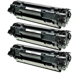 PACK X 3 HP CF283X NEGRO CARTUCHO DE TONER COMPATIBLE Nº 83X